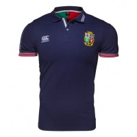 British Irish Blue Cotton Polo Shirt