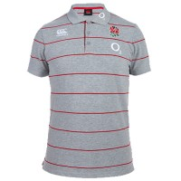 England Stripe Grey Polo Shirt